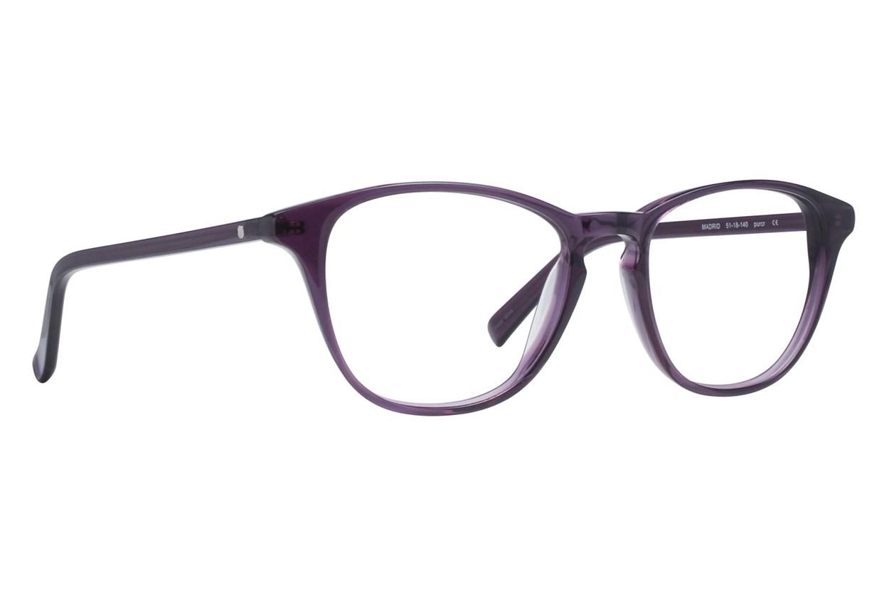 Eco Madrid Purple Eyeglasses