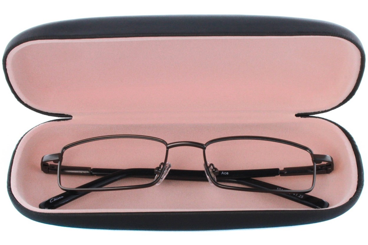 Alternate Image 1 - Amcon Protective Clam Eyeglasses Case Black Black GlassesCases