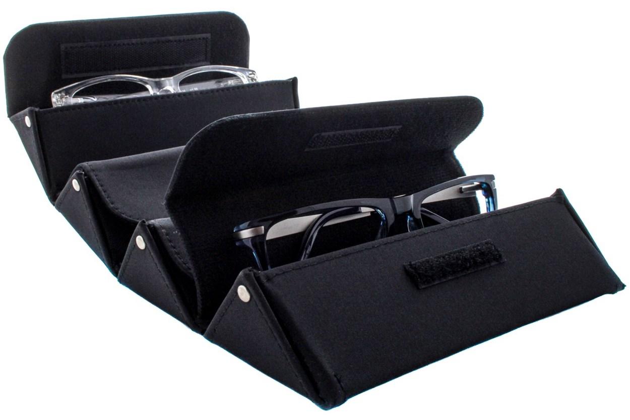 Alternate Image 1 - Corinne McCormack Eyewear Valet Case Black GlassesCases