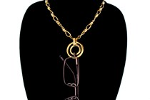 Gold Eyerings Necklace