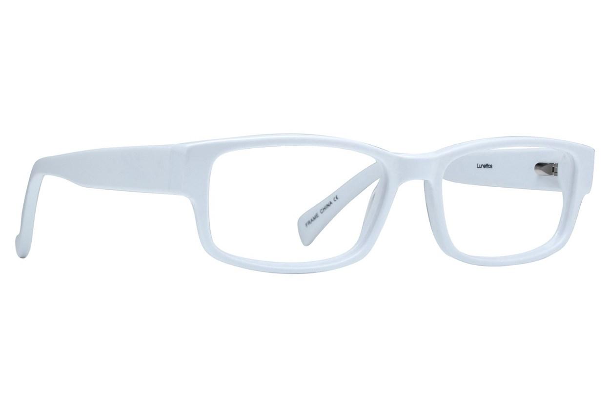 Lunettos Taylor White Eyeglasses