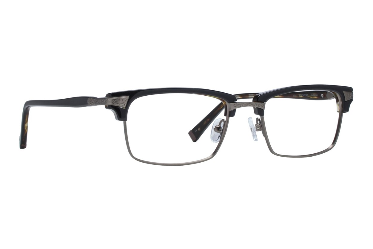 John Varvatos V145 Eyeglasses - Black