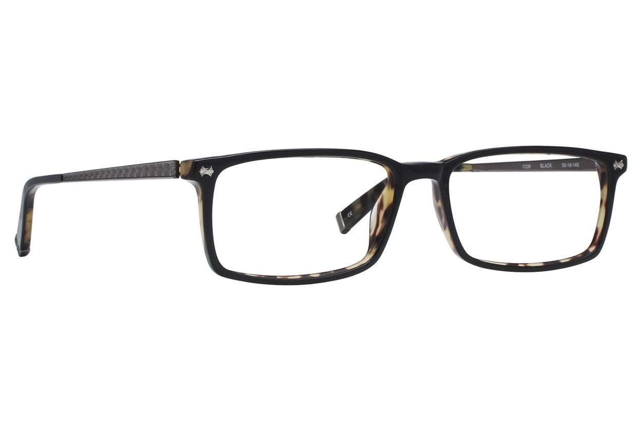 John Varvatos V336 Black Eyeglasses