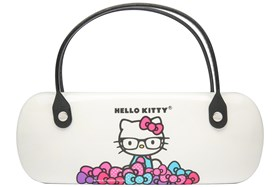 Hello Kitty Clamshell Eyeglass Case White