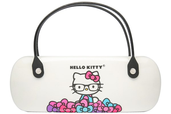 Hello Kitty Clamshell Eyeglass Case White 50