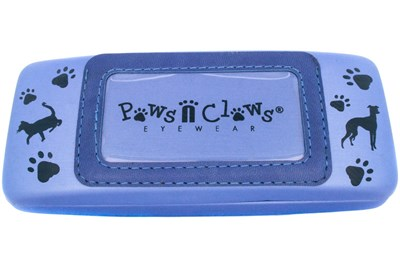 Paws n Claws Clamshell Case With Photo Pocket Blue