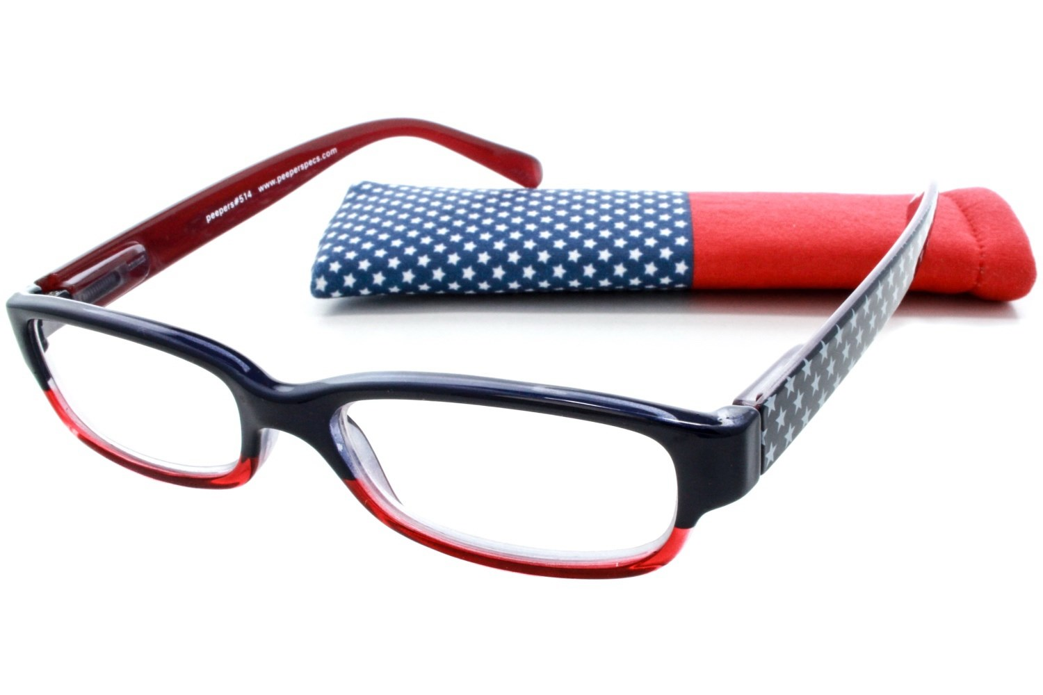 peepers and stripes reading glasses