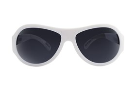 Babiators Polarized Sunglasses for Babies - Pattern White