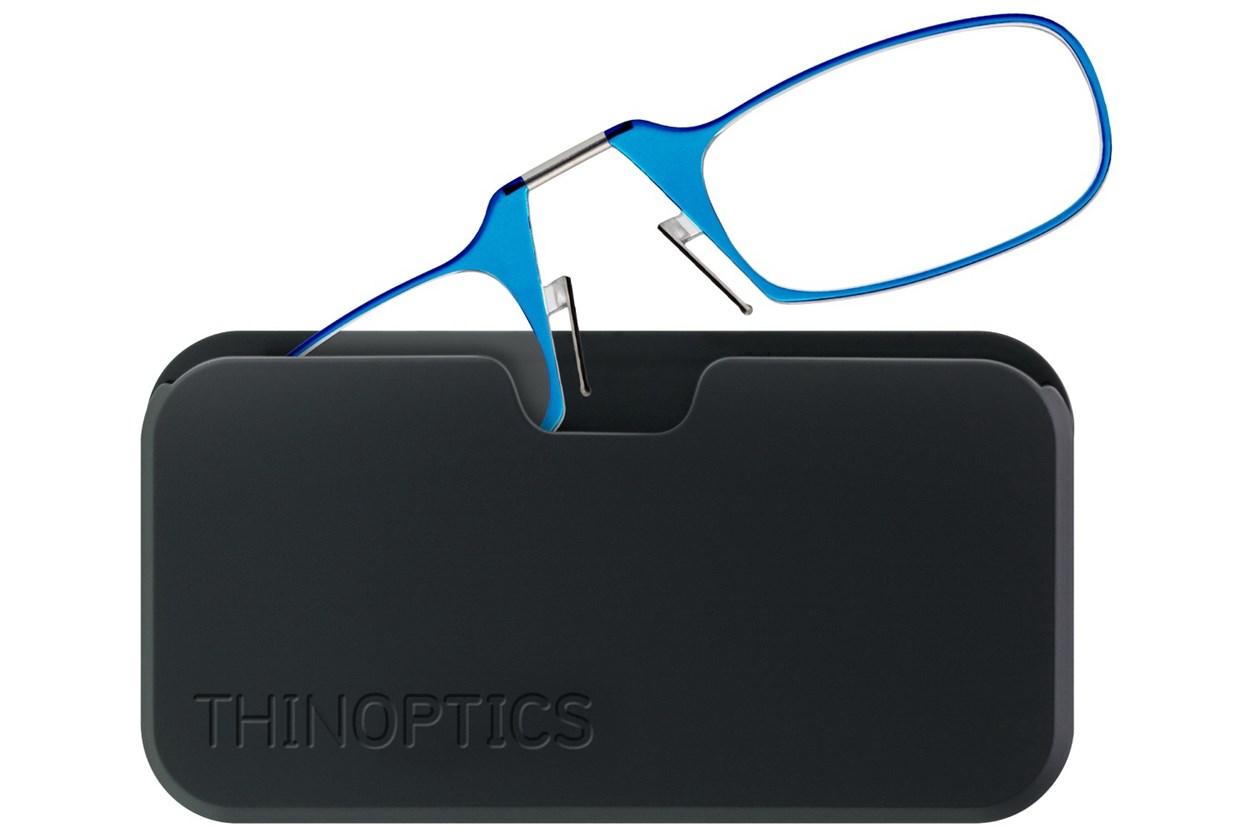 ThinOPTICS Reading Glasses with Universal Pod Case Bundle Blue ReadingGlasses