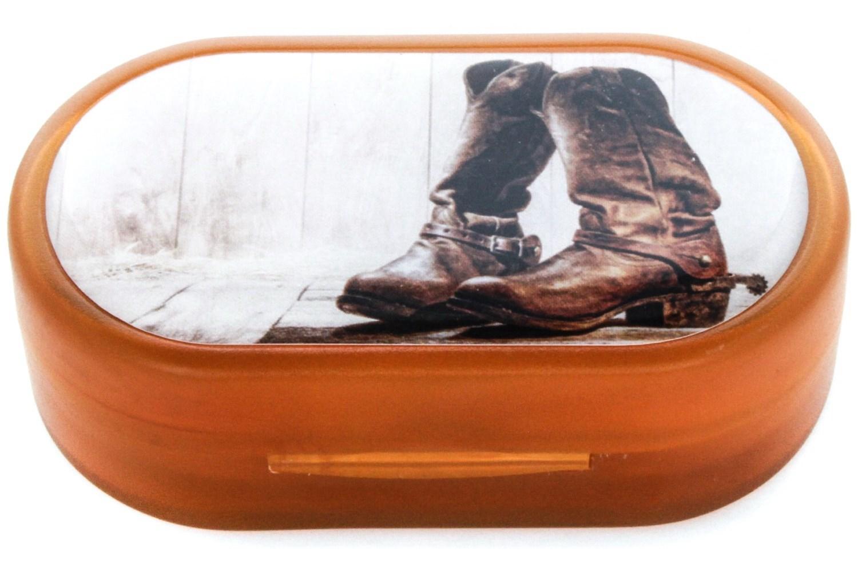 Cowboy Boots Designer Contact Lens Case
