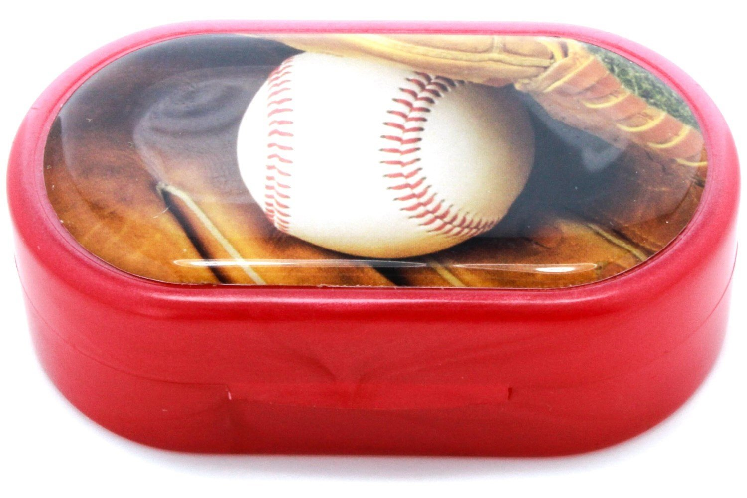 Baseball Designer Contact Lens Case