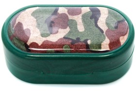 Amcon Camouflage Designer Contact Lens Case