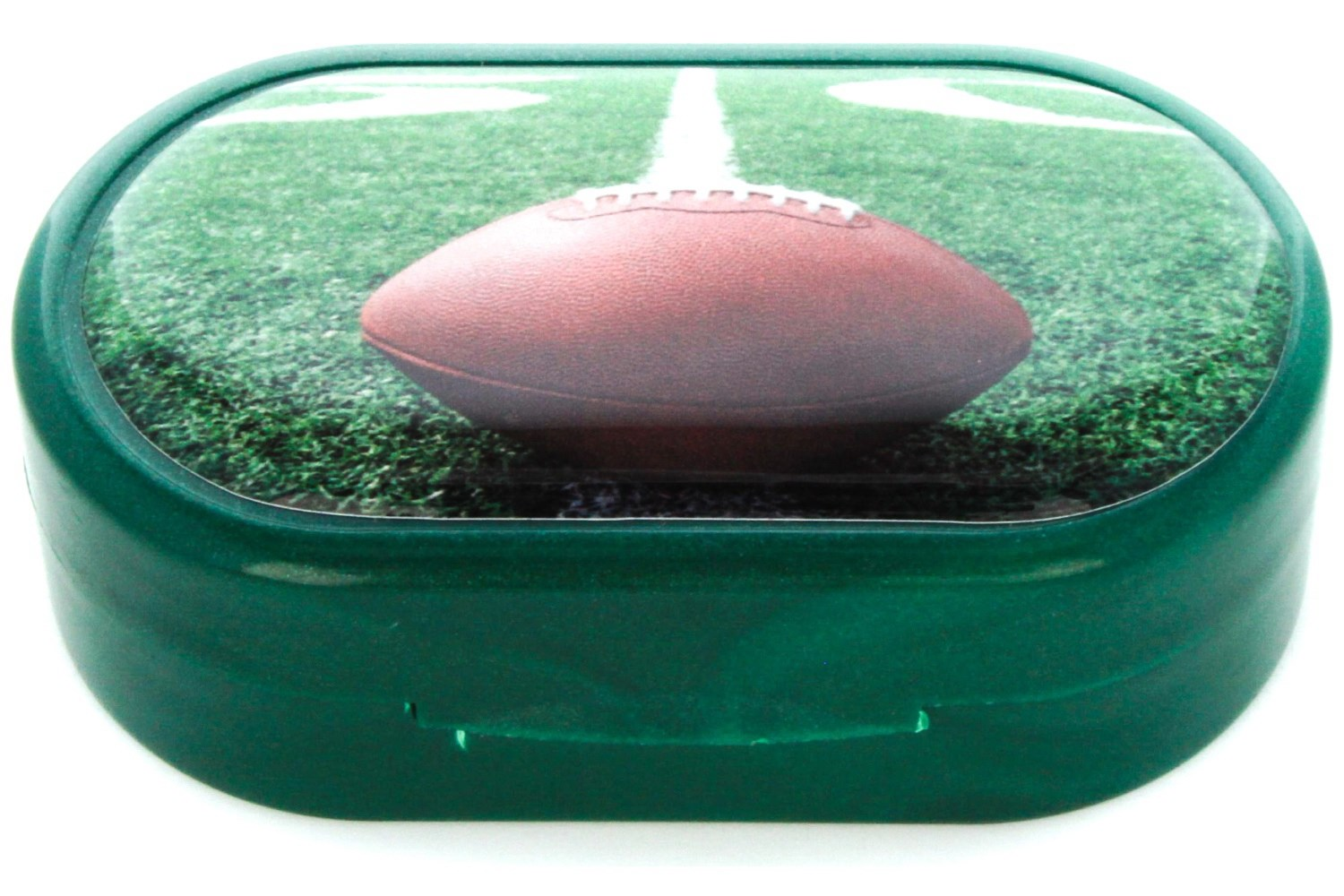 Football Green Designer Contact Lens Case
