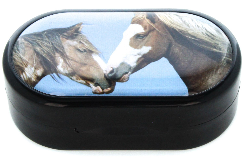 Horses Designer Contact Lens Case