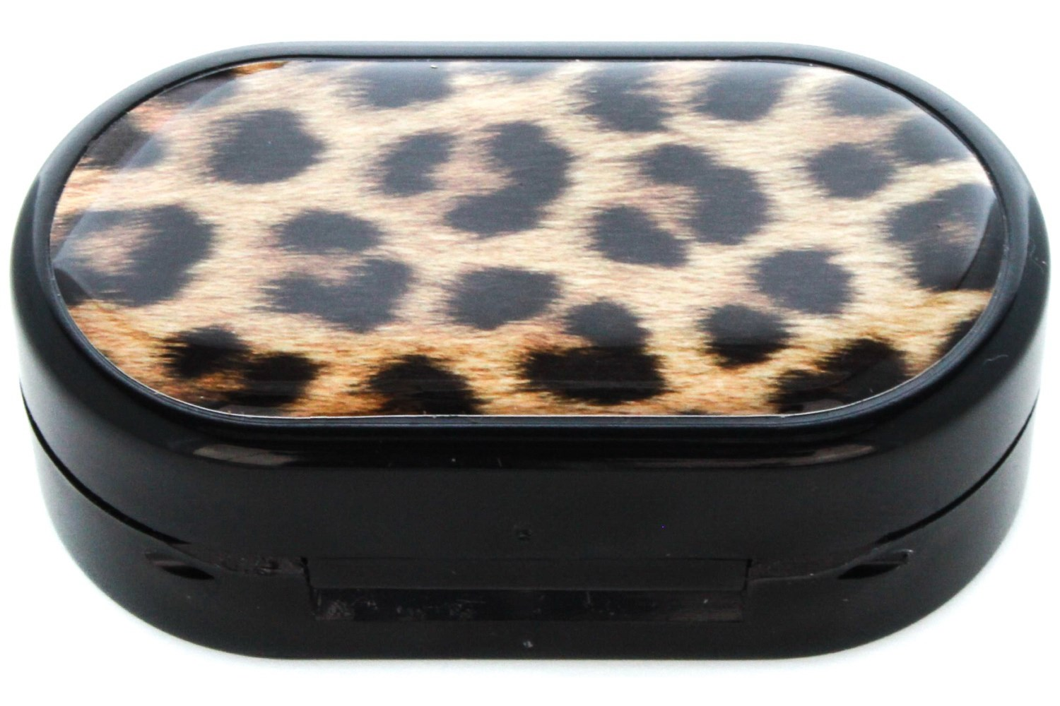 Leopard Designer Contact Lens Case