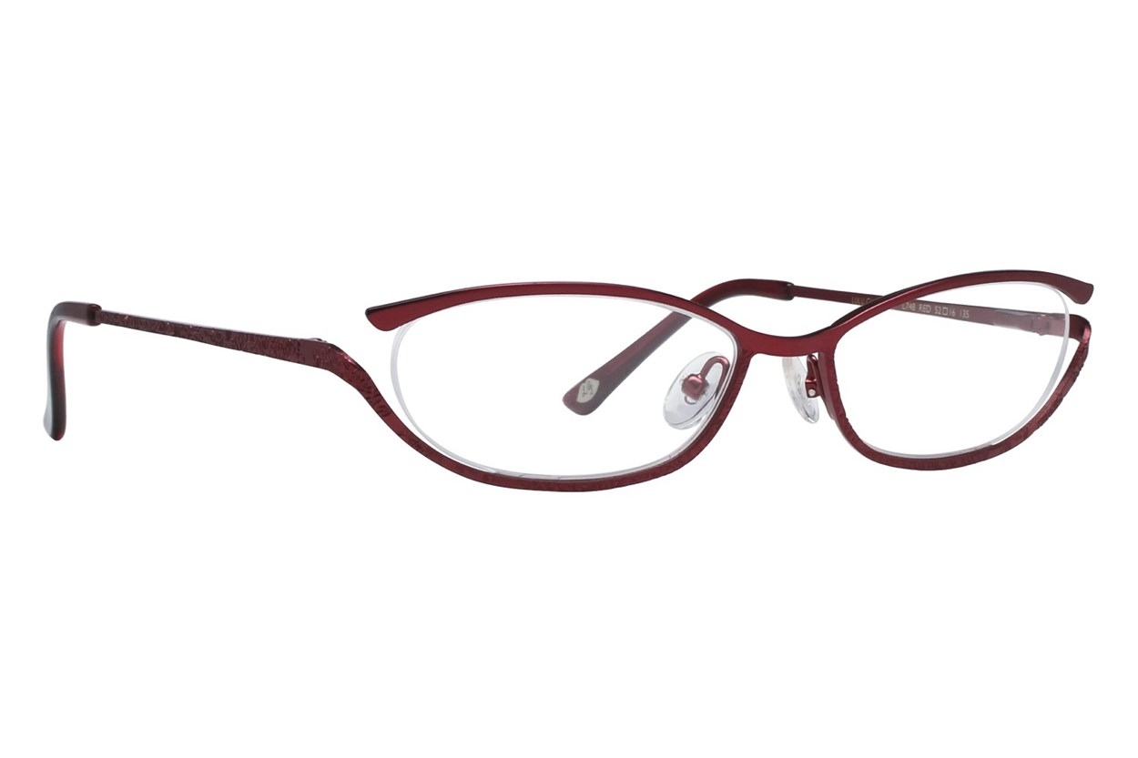 Lulu Guinness L748 Red Eyeglasses