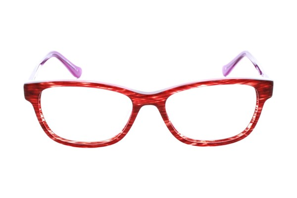 Kensie Girl Flower Eyeglasses - Red