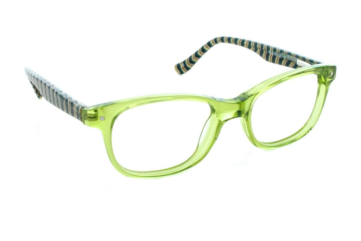 Kensie Girl Stripes Green Eyeglasses