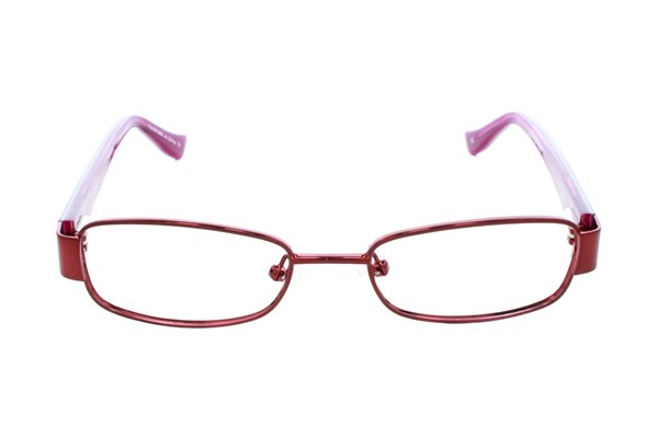 Kensie Girl Wavy Red Eyeglasses