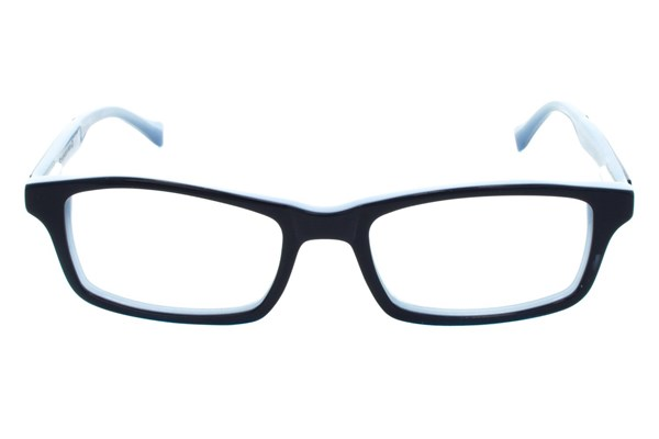 Lucky Double Stitch Small Blue Eyeglasses