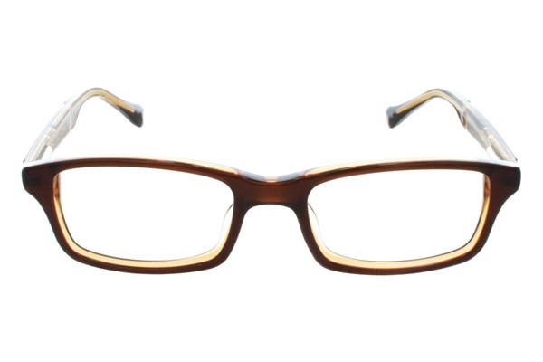 Lucky Double Stitch Small Brown Eyeglasses