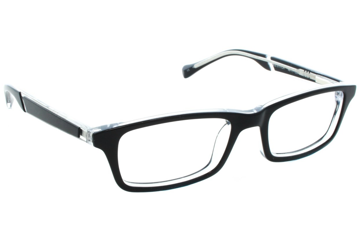 Lucky Double Stitch Small Black Eyeglasses