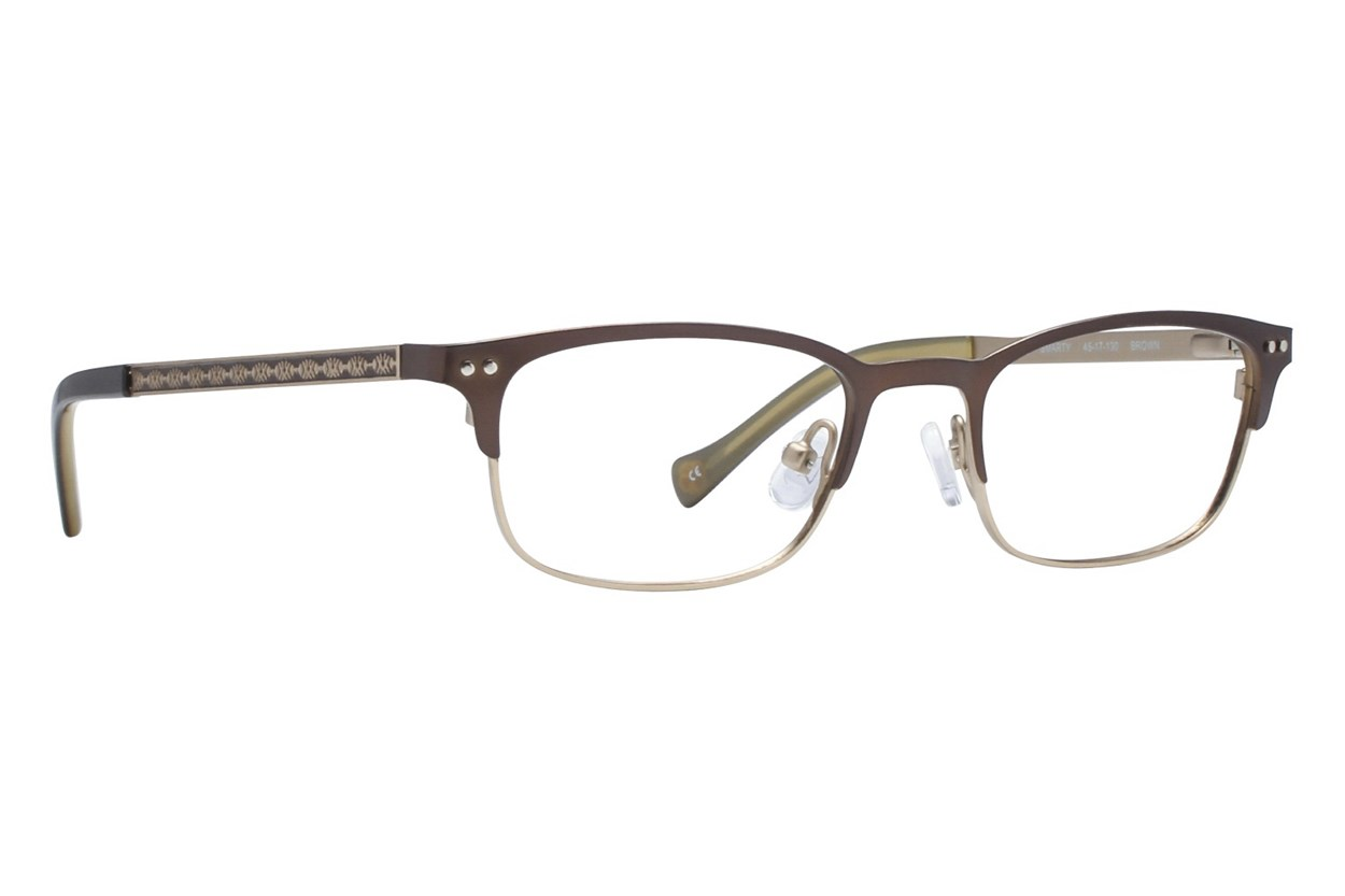 Lucky Smarty Small Eyeglasses - Brown