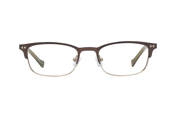 Lucky Smarty Small Brown Eyeglasses