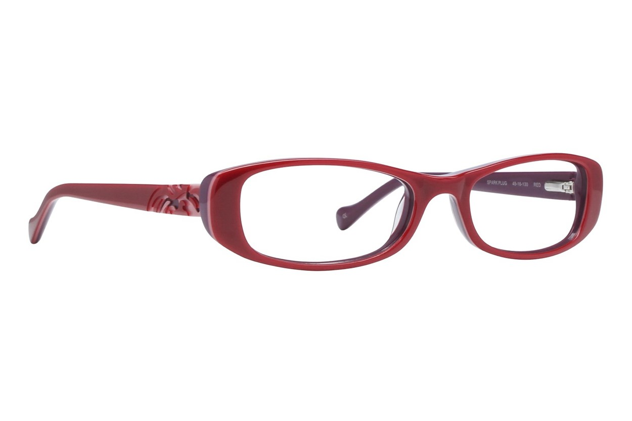 Lucky Spark Plug Red Eyeglasses
