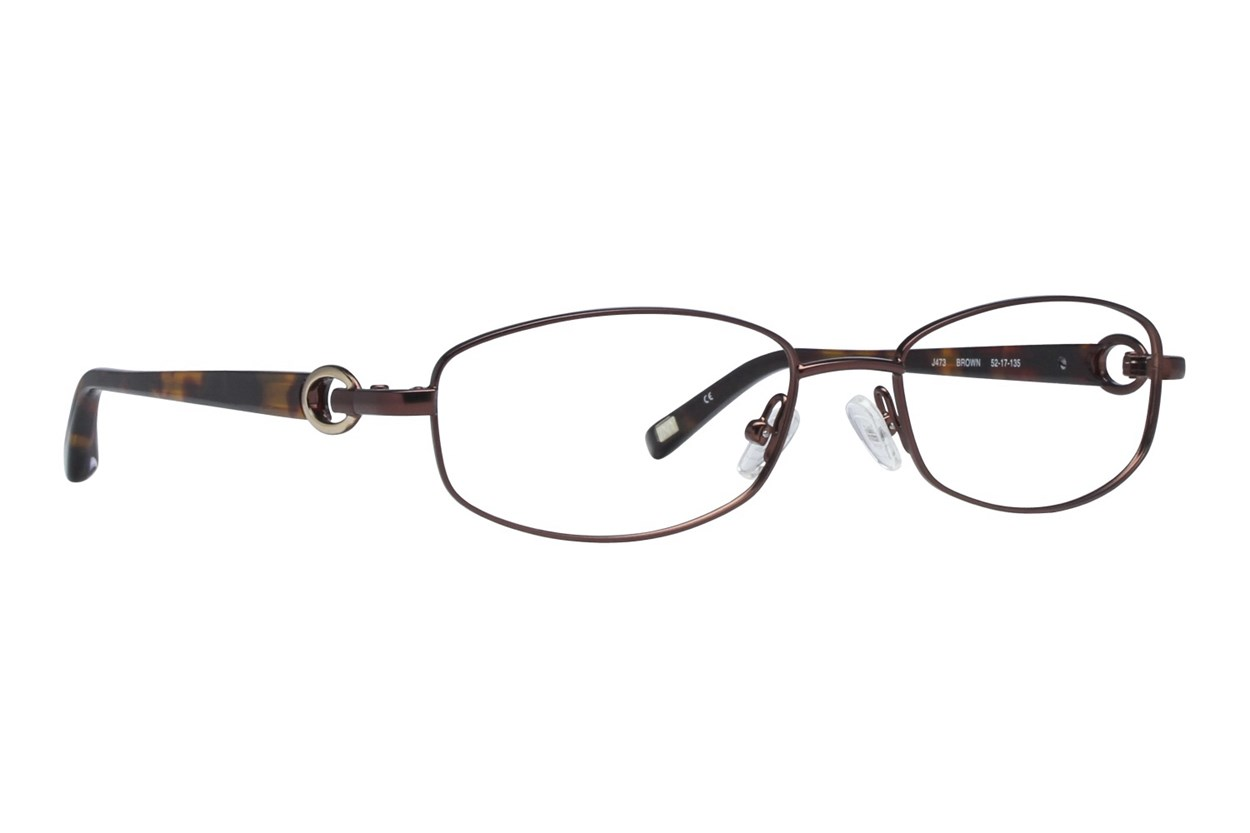Jones NY J473 Brown Eyeglasses