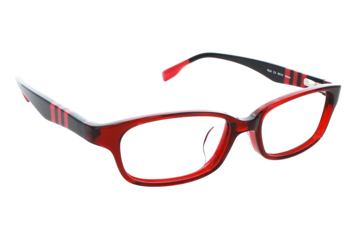 TC Charton Felix Red Eyeglasses