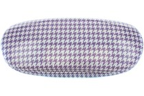 Shimmer Houndstooth Eyeglass Case