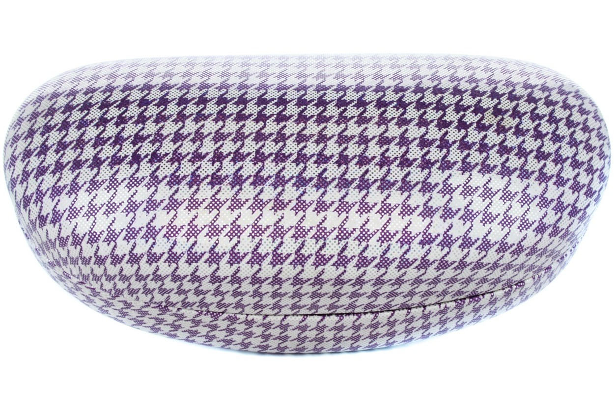 CalOptix Shimmer Houndstooth Sunglass Case Purple GlassesCases