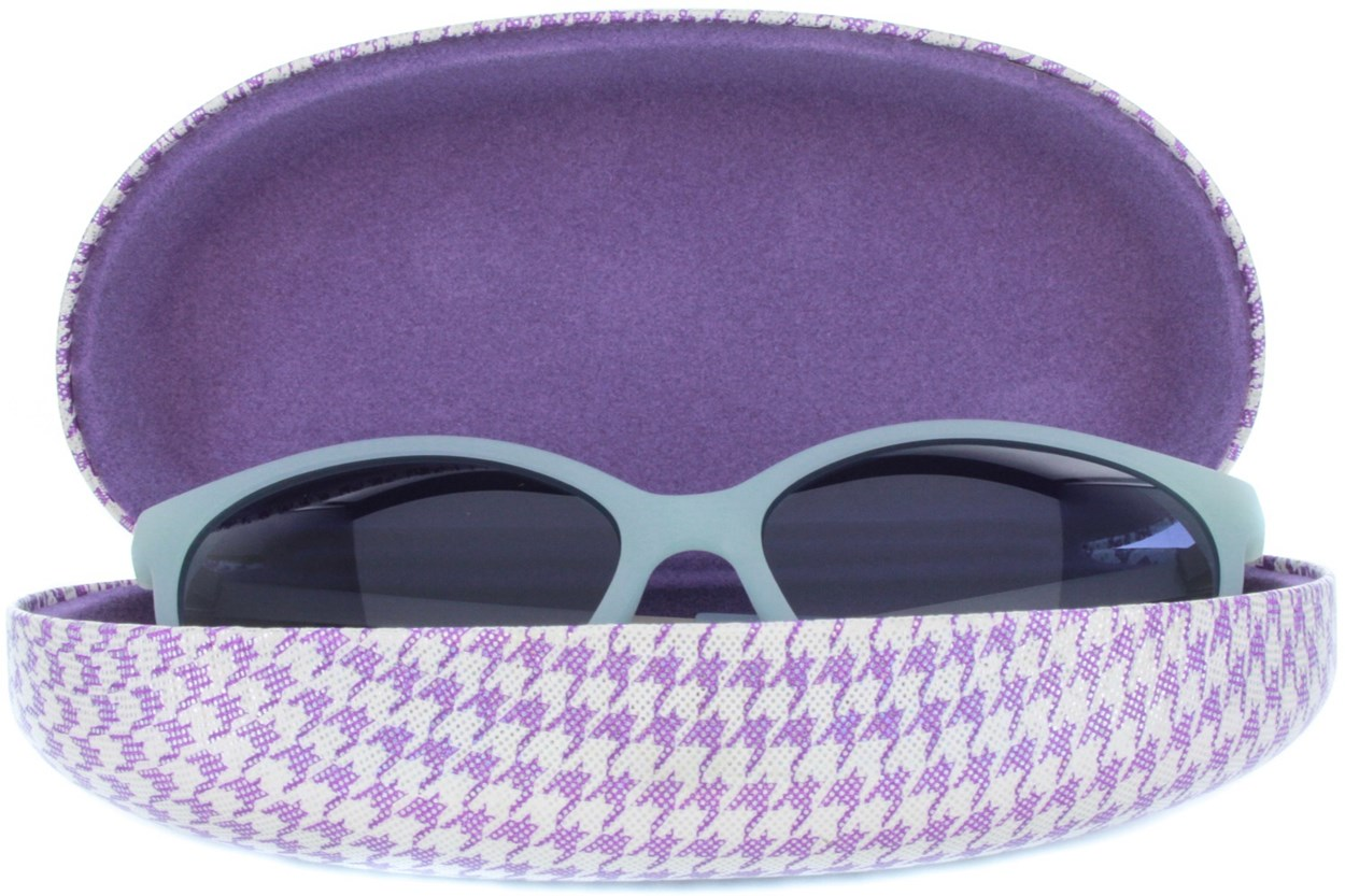 Alternate Image 1 - CalOptix Shimmer Houndstooth Sunglass Case Purple GlassesCases