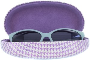Click to swap image to alternate 1 - CalOptix Shimmer Houndstooth Sunglass Case 50 - Purple