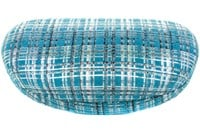 Click to swap image to CalOptix Silver Plaid Sunglass Case