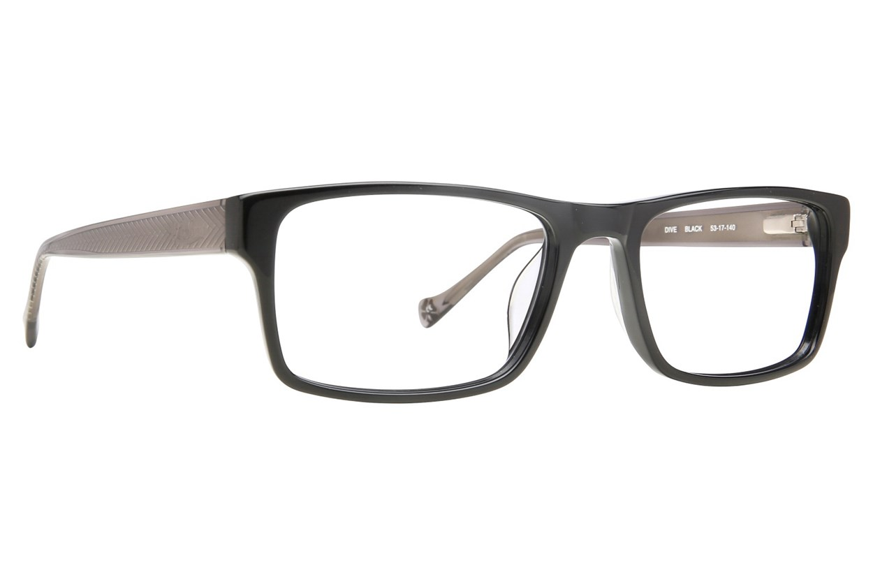 Lucky Dive Black Eyeglasses