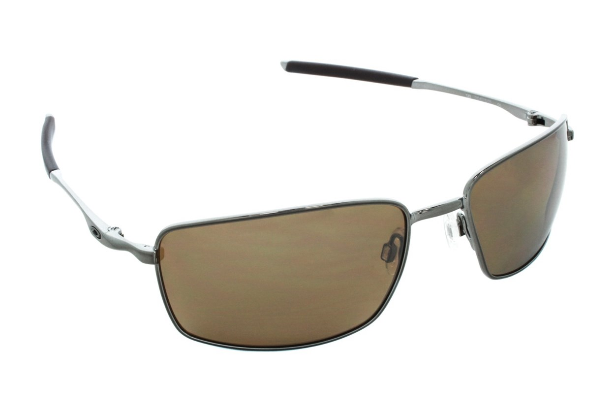 Oakley Square Wire Iridium Polarized Sunglasses - Gold