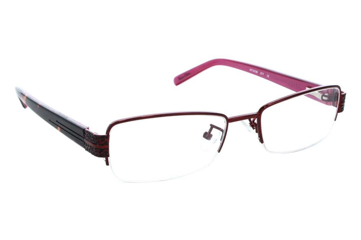 Red Lotus 203m Eyeglasses - Red