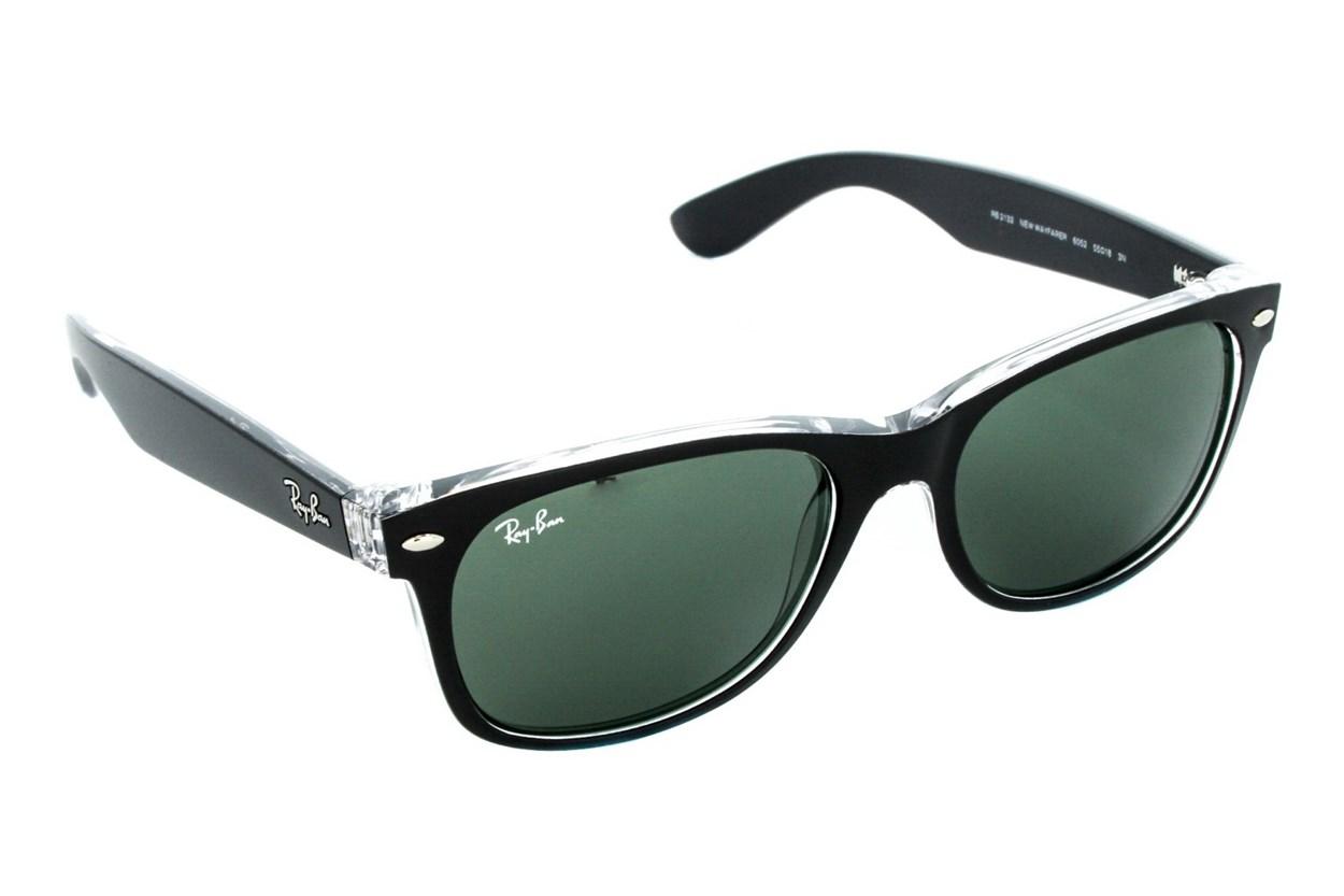Ray-Ban® RB2132 55 New Wayfarer Color Black Sunglasses