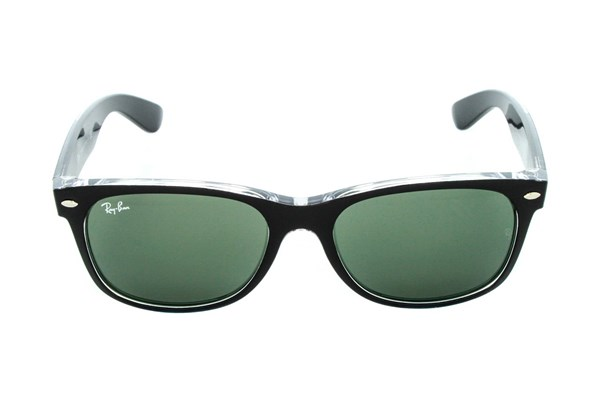 Ray-Ban® RB2132 55 New Wayfarer Color Sunglasses - Black