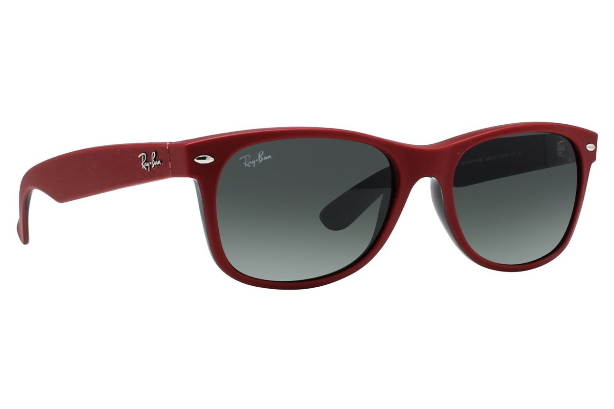 Ray-Ban® RB2132 55 New Wayfarer Red Sunglasses