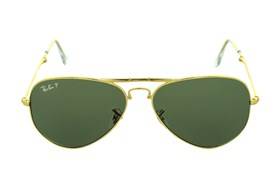 Ray-Ban® RB3479 Folding Aviator Polarized Gold