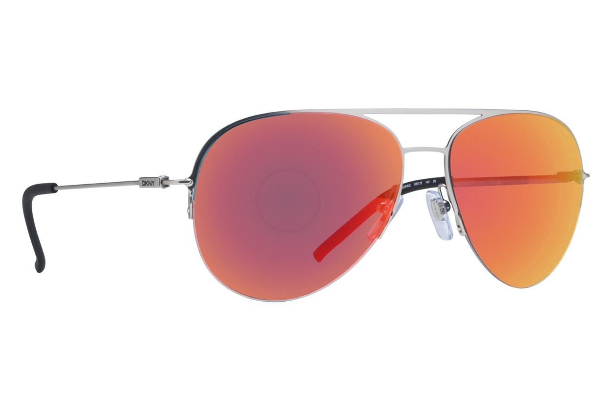 DKNY 5080 Red Multilayer Silver Sunglasses