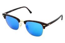 Ray Ban RB3016 Clubmaster Sunglasses-114517 Havana (Gray Mirr Blue Lens)-51mm AC23039