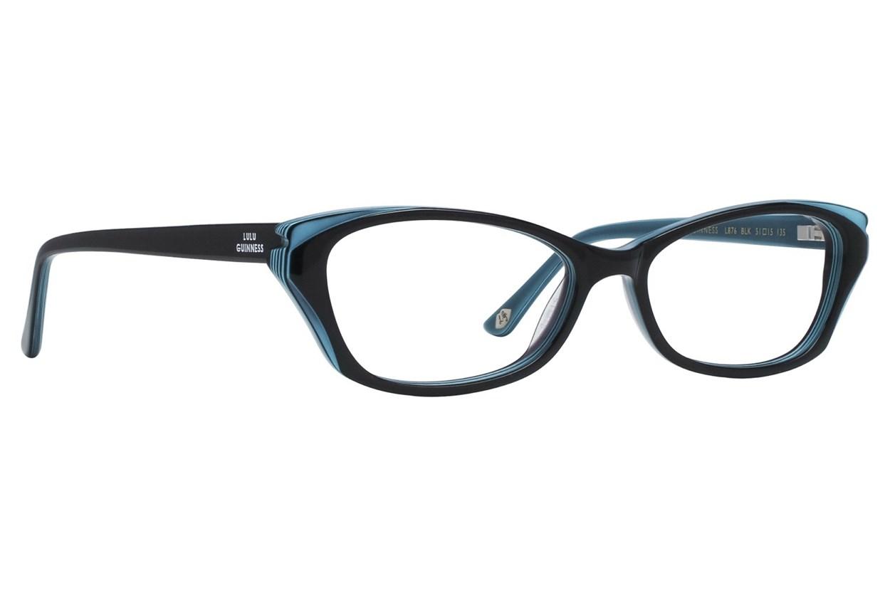 Lulu Guinness L876 Black Eyeglasses