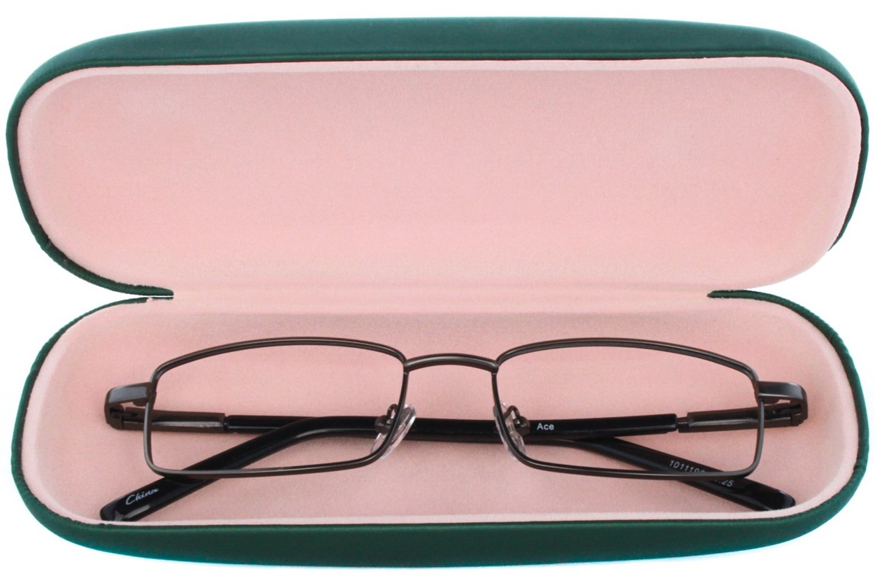 Alternate Image 1 - Amcon Protective Clam Eyeglasses Case Colors Green GlassesCases