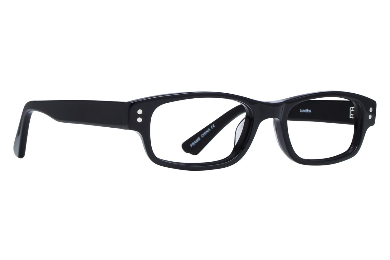 Lunettos Carter Black Eyeglasses
