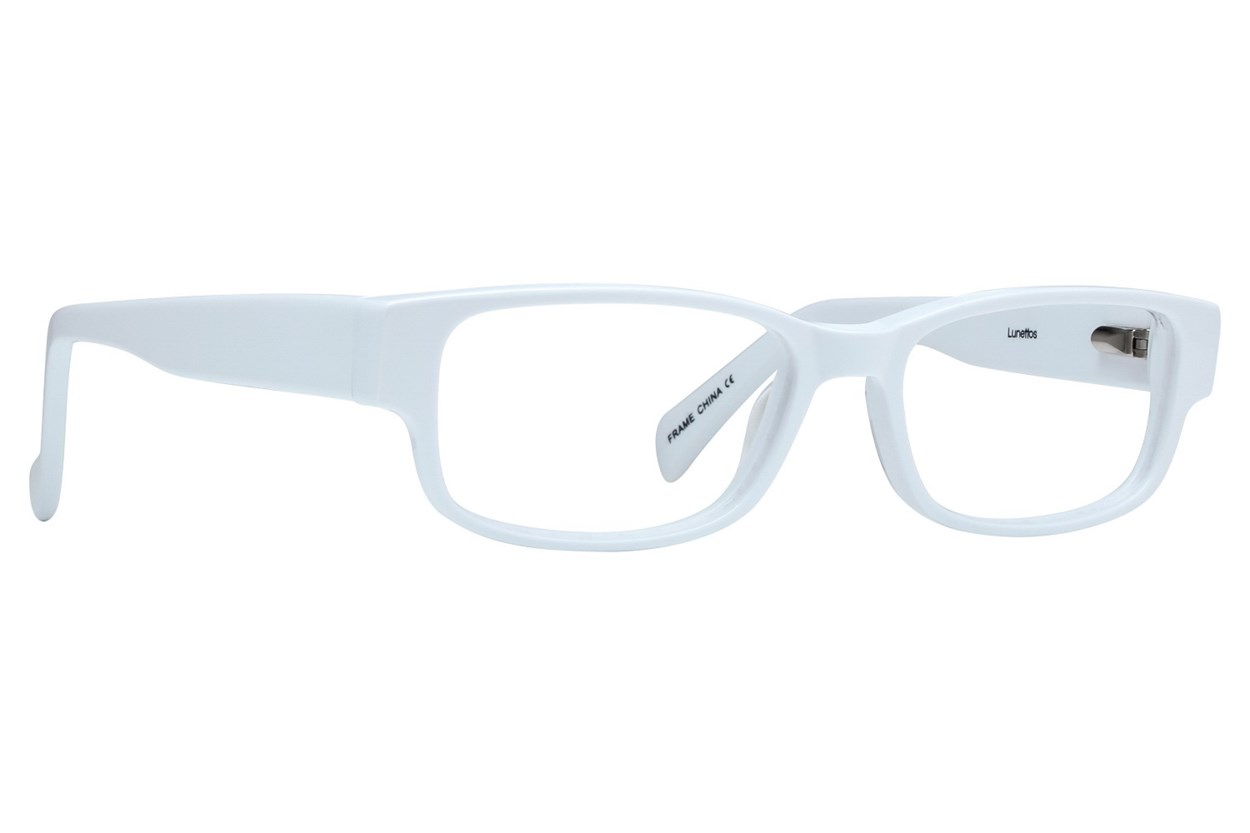 Lunettos Taylor Petite 49 White Eyeglasses