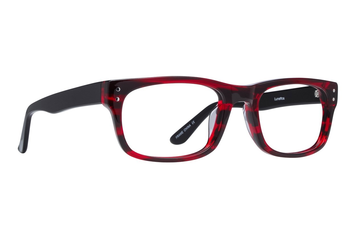 Lunettos Brian Red Eyeglasses